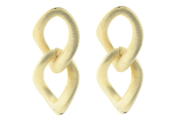 Electroformed Gold Plated Italian Links Earrings