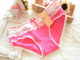 1PCS Lace Women's Cotton Soft Lace Bow-knot Underwear Briefs Knickers Candy WS
