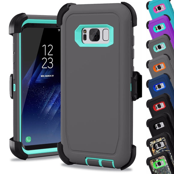 for Samsung Galaxy Note 8 / S9 / S8 Plus Case Stand Belt Clip Holder Shockproof Armor Hybrid Hard PC Rugged Soft Rubber Protecti