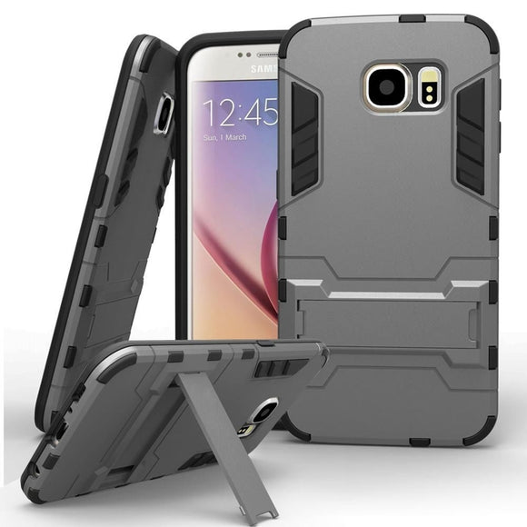 Hybrid Shockproof Hard&Soft Rugged Rubber Cover Case with Stand For Samsung Galaxy S8 / S8 Plus / Samsung Galaxy Note 8 / S8 S