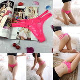 Womens Sexy Lace V-string Briefs Panties Floral G-string Lingerie Underwear Slim Pants