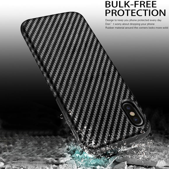 Ultra Slim Soft Carbon Fiber Rubber Soft Case For Samsung Galaxy Note 8 /S8 / S8 Plus / S7 / S7 Edge / iPhone X / 8 / 8 Plus / /