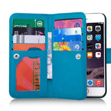 Hot Sell Luxury Practical Magnetic 9 Card Slot PU Leather Flip Wallet Phones Case Cover for IPhone 7,iPhone 7 Plus , Iphone6,6 P