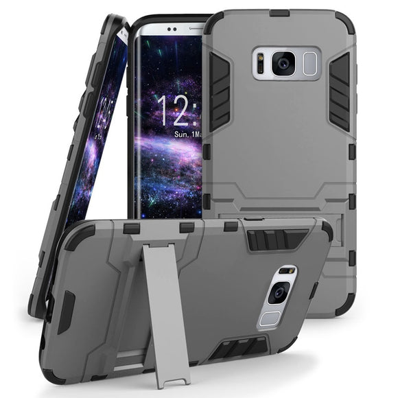 Shock-Absorption Dual Layer Kickstand Armor Defender Case For Samsung Galaxy Note 8 / S8 / S8 Plus / S7 / S7 Edge / S6 Edge / S6