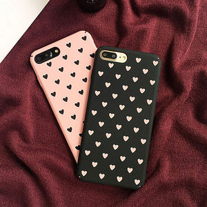 Cute Heart Painted Case for iPhone 7 7plus Girl Style Cover for Iphone 6 6s 6plus 6splus iPhone 8/8plus iPhoneX