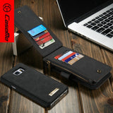 Muitifunctional Removable Wallet Leather Card Slot Magnetic Case For Samsung Galaxy S8 / S8 Plus / S7 / S7 Edge / S6 / S6 Edge
