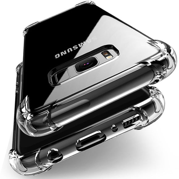 Shockproof TPU Silicone Full Protection Crystal Clear Case Cover For Samsung Galaxy S8 S8+ S7 S7edge S6 A7 A5 A3 J5 J7 Note 8