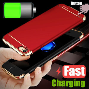 Large Capacity Wireless Charging Case for Iphone X 8 7 Plus Luxury Portable Power Bank Pack Backup External Battery Case Cover f