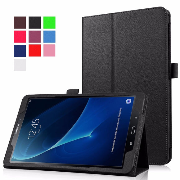 Slim Folding Flip Cover Stand PU Leather Case for Samsung Galaxy Tab A A6 10.1 2016 T585 T580 SM-T580 T580N Tablet Cases