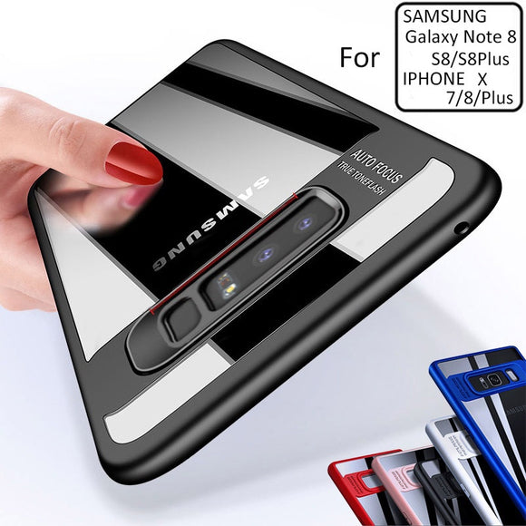 [TPU+PC] For Samsung Note 8 Case Clear Acrylic Creative Coque For samsung case note 8 Shockproof Back Cover For Galaxy Note 8 Ca