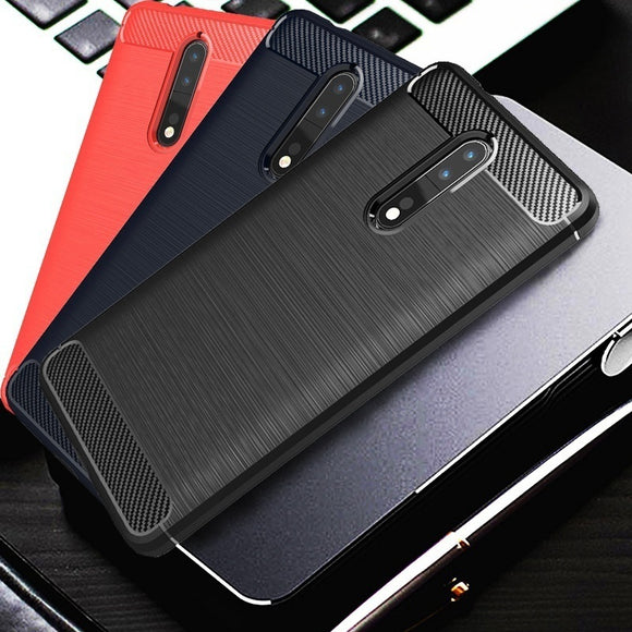 Brushed Carbon Fiber Coque Shockproof Slim Armor Soft Silicone Phone Back Cover For Nokia 3 5 6 8 9 Case