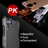 Luxury Waterproof Shockproof Metal Aluminum Case with Fisheye Wide Angle 3 In 1 Macro Lens for IPhone X/6/6Plus/7/7 Plus