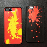 Creative Induction Thermal Heat Discoloration Magical Phone Back Case Soft Cover