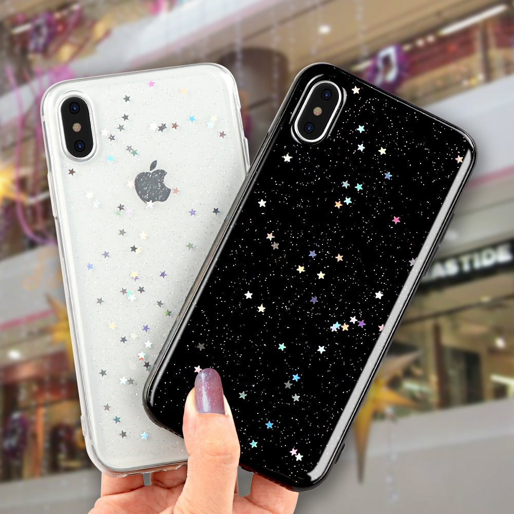 newest 33fa7 b810f Bling Star Case For iphone X 10 case for iphone 7 /8 plus for iphone 6 / 6s  plus Case Cover Silicone Soft TPU Clear Crystal Cove