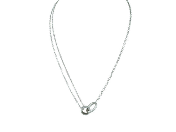 Intertwined Eternity Rings Necklace