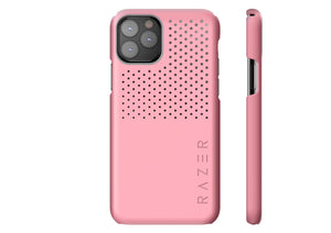 Razer Arctech Slim for iPhone 11 Pro Case: Thermaphene & Venting Performance Cooling - Wireless Charging Compatible - Quartz Pink