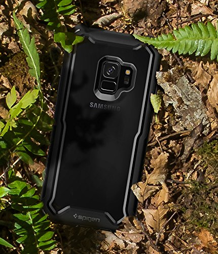 pretty nice 34ddd 9ef95 Spigen Hybrid 360 Galaxy S9 Case with 360 Full Body Coverage Protection  with Tempered Glass Screen Protector for Samsung Galaxy S9 (2018) - Black