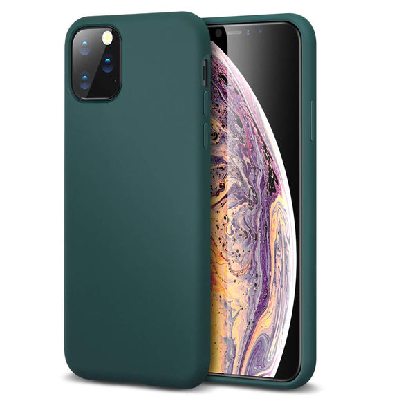 ESR Yippee Color Soft Case for iPhone 11 Pro, Liquid Silicone Rubber Case Cover [Comfortable Grip] [Screen & Camera Protection] [Velvety-Soft Lining] [Shock-Absorbing] for iPhone 11 Pro, Dark Green