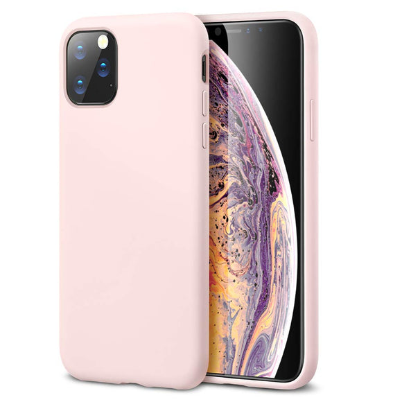 ESR Yippee Color Soft Case for iPhone 11 Pro, Liquid Silicone Rubber Case Cover [Comfortable Grip] [Screen & Camera Protection] [Velvety-Soft Lining] [Shock-Absorbing] for iPhone 11 Pro, Pink