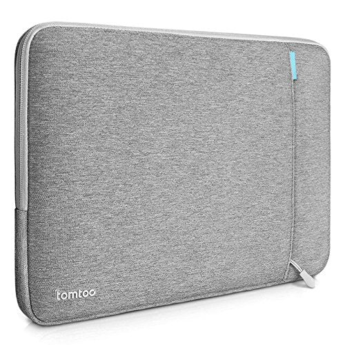 Tomtoc 360° Protective Laptop Sleeve for 12 Inch New MacBook with Retina Display, Shockproof, Spill-Resistant 12 Inch MacBook Case Tablet Sleeve, Gray
