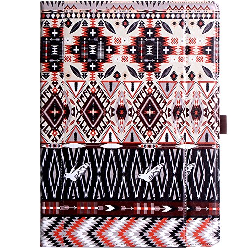 Apple iPad Pro 12.9 Case - ProCase Leather Stand Folio Case Cover for iPad Pro 12.9 Inch (Both 2017 and 2015 Models), with Multiple Viewing Angles, Auto Sleep/Wake, Apple Pencil Holder - Aztec2