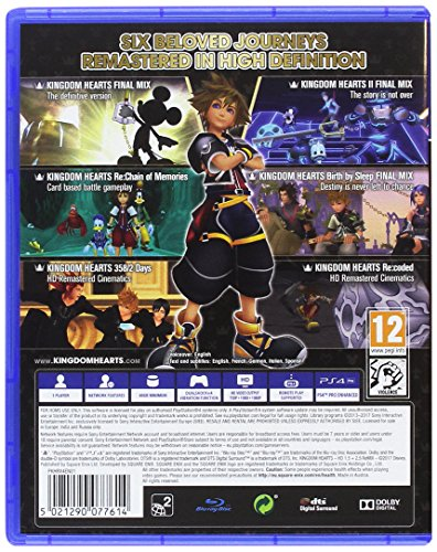 Kingdom Hearts HD 1 5 and 2 5 Remix PS4