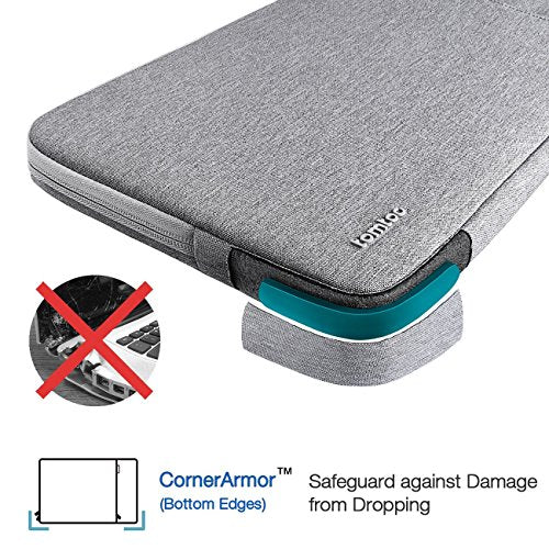 ea7dd37b0118 Tomtoc 360° Protective Laptop Sleeve for 12 Inch New MacBook with Retina  Display, Shockproof, Spill-Resistant 12 Inch MacBook Case Tablet Sleeve,  Gray