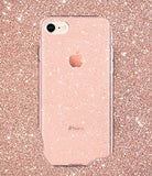 Spigen Liquid Crystal [2nd Generation] iPhone 8 Case / iPhone 7 Case with Slim Protection and Premium Clarity for Apple iPhone 8 (2017) / iPhone 7 (2016) - Glitter Rose Quartz