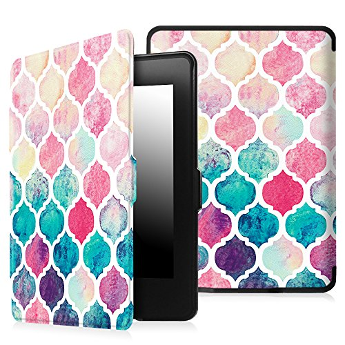 Fintie Case for Kindle Paperwhite - Premium Thinnest and Lightest PU Leather Cover Auto Sleep / Wake for All-New Amazon Kindle Paperwhite (Fits All 2012, 2013, 2015 and 2016 Versions), Moroccan Love