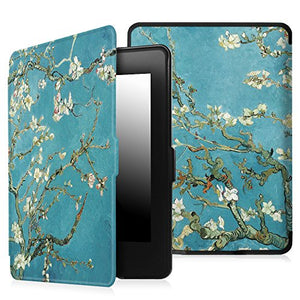 Fintie SmartShell Case for Kindle Paperwhite - The Thinnest and Lightest PU Leather Cover Auto Sleep / Wake for All-New Amazon Kindle Paperwhite (Fits All 2012, 2013, 2015 and 2016 Versions), Blossom