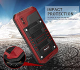 iPhone X Waterproof Case, Beasyjoy Heavy Duty Hard Strong Metal Cover with Built-in Screen Full Body Protection Shockproof Tough Rugged Durable Military Grade Defender for Outdoor Sport (UN-Upgrade)