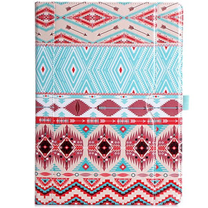 Apple iPad Pro 12.9 Case - ProCase Leather Stand Folio Case Cover for iPad Pro 12.9 Inch (Both 2017 and 2015 Models), with Multiple Viewing Angles, Auto Sleep/Wake, Apple Pencil Holder - Aztec1