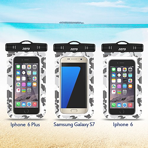 pretty nice 93867 e707f Waterproof Case, JOTO Cellphone Waterproof Dry Bag Pouch Case for Apple  iPhone 6S 6,6S Plus, SE 5S 7, Samsung Galaxy S7 S6, Note 5 4, HTC LG Sony  ...