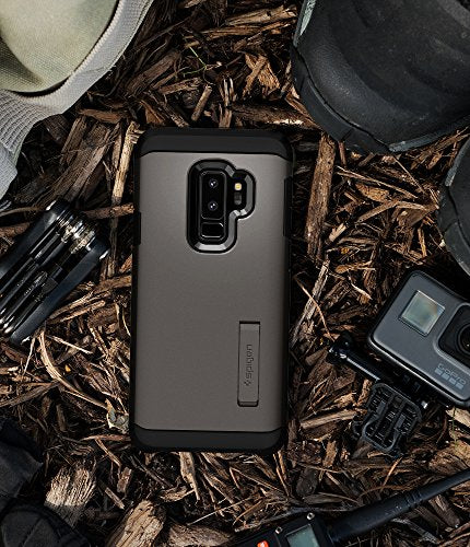 size 40 49dd9 3a2ce Spigen Tough Armor Galaxy S9 Plus Case with Reinforced Kickstand and Heavy  Duty Protection and Air Cushion Technology for Samsung Galaxy S9 Plus ...