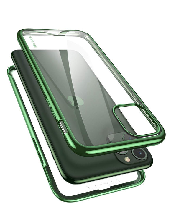 SUPCASE [Unicorn Beetle Electro Series] Designed for Apple iPhone 11 Pro 2019 5.8 inch Case, Metallic Electroplated Edges, Slim Full-Body Protective Case with Built-in Screen Protector (Green)