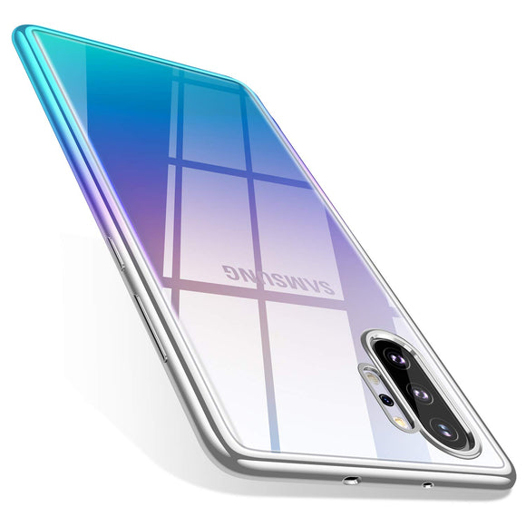 TORRAS Galaxy Note 10 Plus Case/Galaxy Note 10 Plus 5G Case Crystal Clear Ultra-Thin Slim Fit Soft TPU Cover Compatible with Samsung Galaxy Note 10 Plus 6.8 inch, Aura Glow