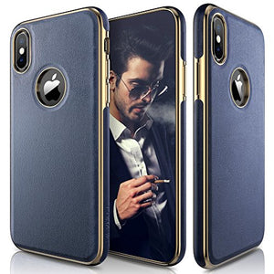 on sale 2d272 9d15d iPhone X Case, LOHASIC [Premium Leather] Slim & Thin Soft Flexible Body  Luxury [Gold Electroplated] Bumper Anti-Slip Grip Scratch Resistant  Protective ...