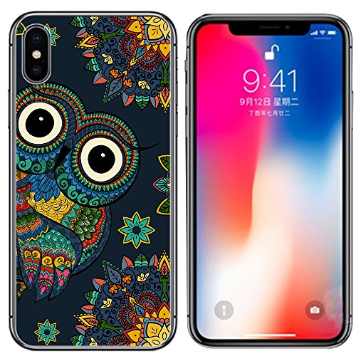 iPhone X Case, Ailiber Creative Multi-style Art Design Slim-Fit Anti-Scratches Anti-Finger Print Lightweight Soft TPU Protective Cover for Apple iPhoneX iPhone 10 Ten 5.8 inch - Colorful Owl