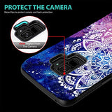 Galaxy S9 Case, ZUSLAB Pattern Design Armor, Shockproof Rubber Bumper, Drop Resistant Heavy Duty Protective Cover For Samsung S9, 2018 (Nebula Mandala)