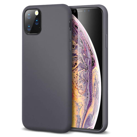 ESR Yippee Color Soft Case for iPhone 11 Pro, Liquid Silicone Rubber Case Cover [Comfortable Grip] [Screen & Camera Protection] [Velvety-Soft Lining] [Shock-Absorbing] for iPhone 11 Pro, Gray