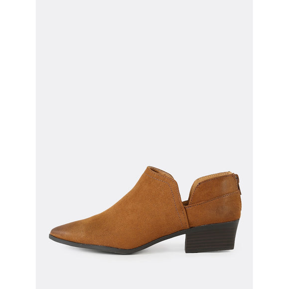 Faux Suede Split Shaft Bootie MAPLE