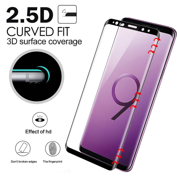 3D Curved Full Cover Tempered Glass For Samsung Galaxy S9 Plus S9 Screen Protector Protective Film For Samsung Galaxy S9 S9+
