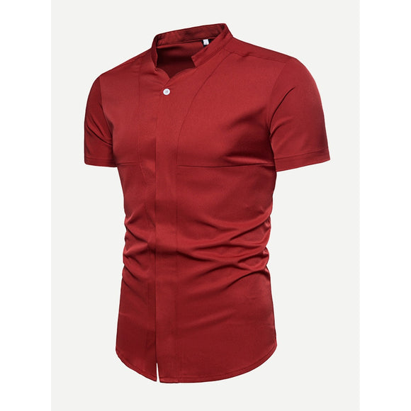 Men Plain Blouse
