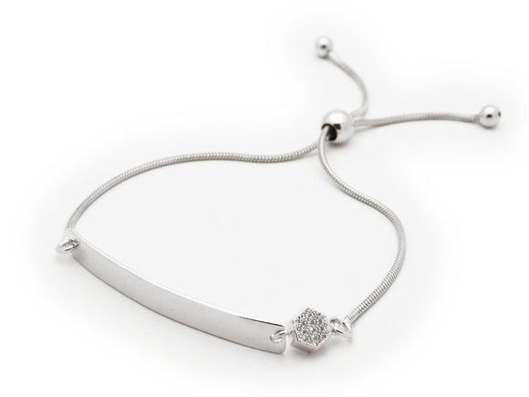 Engravable Sparkling Crystals ID Bracelet (Adjustable)