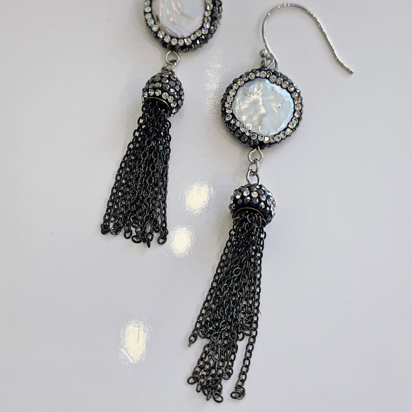 Sheba Coin Pearl Earrings