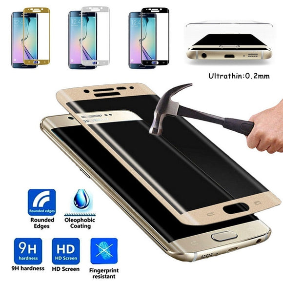 0.2mm 3D Full Coverage Curved Tempered Glass Protector Film for Samsung Galaxy S7 Edge/S7 /S8 Plus/S8 /S9 /S9 Plus /S6 Edge/ S6
