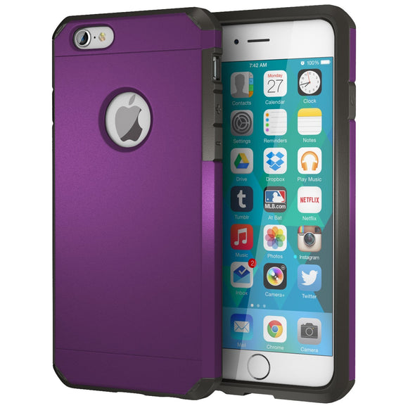 iPhone 6 / 6s Case, ImpactStrong Heavy Duty Dual Layer Protection Cover Heavy Duty Case for Apple iPhone 6 / 6s (Purple)
