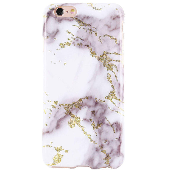 DICHEER iPhone 6 Case,iPhone 6s Case,Cute Golden Grey Marble for Women Girls Slim Fit Thin Clear Bumper Glossy TPU Soft Rubber Silicon Cover Protective Phone Case for iPhone 6/iPhone 6s