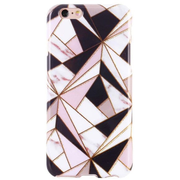 DICHEER iPhone 6 Case,iPhone 6s Case,Cute Geometric Marbles for Women Girls Slim Fit Thin Clear Bumper Glossy TPU Soft Rubber Silicon Cover Protective Phone Case for iPhone 6/iPhone 6s