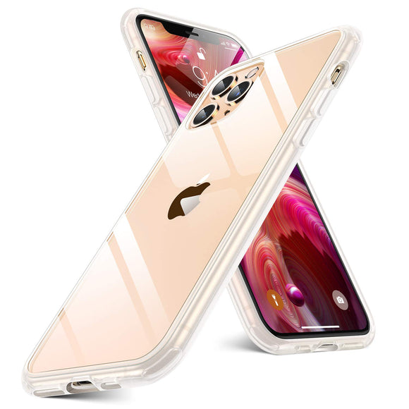 humixx Shockproof Clear Series iPhone 11 Pro Case [Military Grade Drop Tested] with Shock-Absorbing TPU Edge and Hard PC Back, Anti-Drop Protective Cover for iPhone 11 Pro - Translucent White